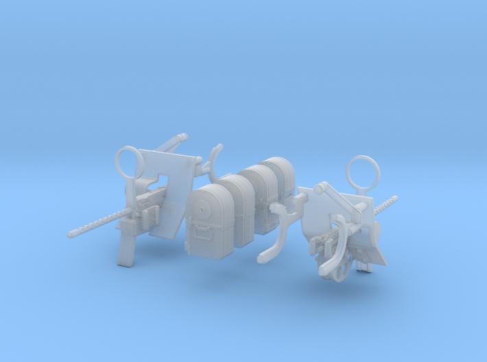 1/27 Cal 50 For USN Pedestal M Set 3d printed