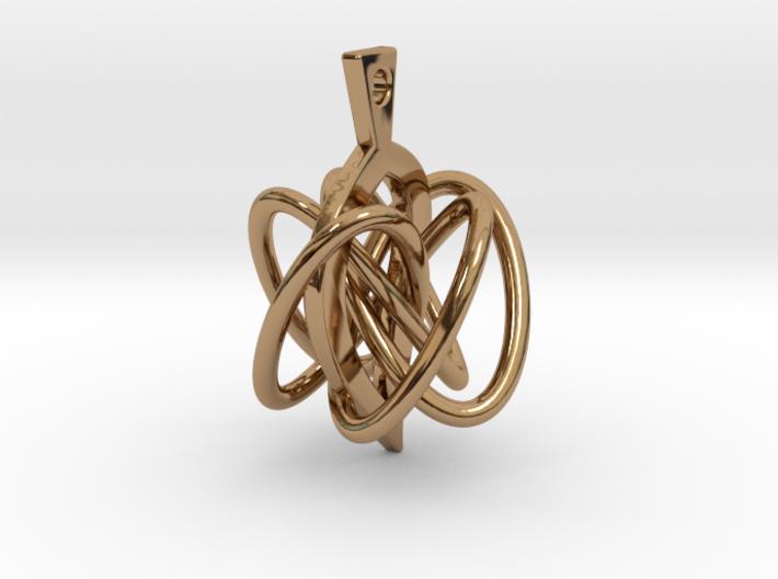 Knot-leaf-mirror 3d printed