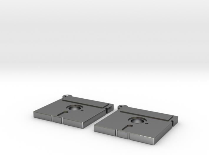 5 1/4 inch Floppy Disk Earrings 3d printed