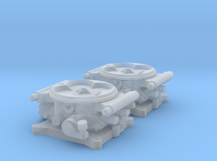 1/18 FAST 1000 Throttle Body 4bbl Fuel Injection 3d printed