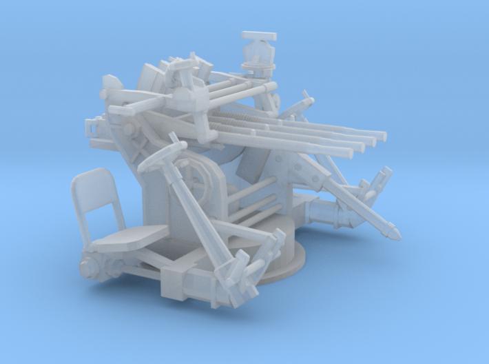1/56 IJN Type 93 13.2mm Quad Mount 3d printed