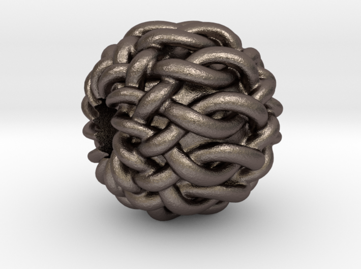 "Celtic ""12-Box Knot"" bead 3d printed"
