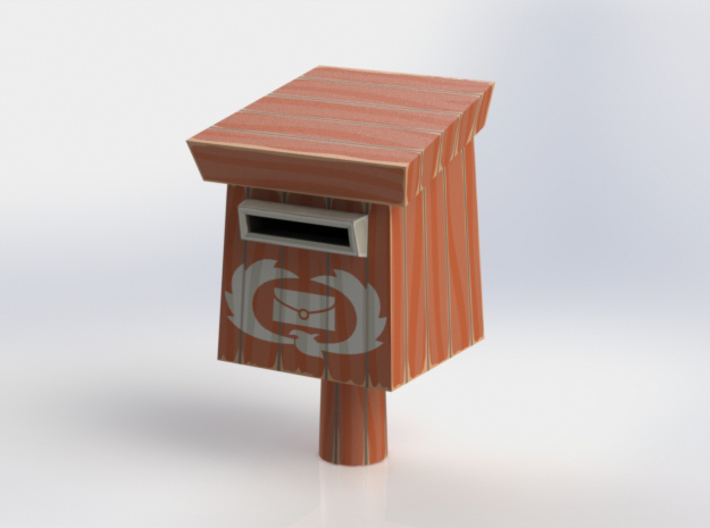 """WW"" Rito Mailbox 3d printed Solidworks showing assembled model."