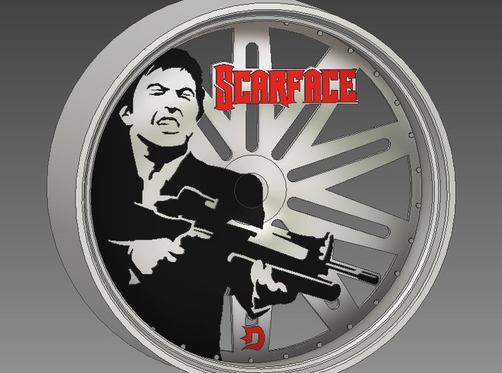 32in Scarface 3d printed