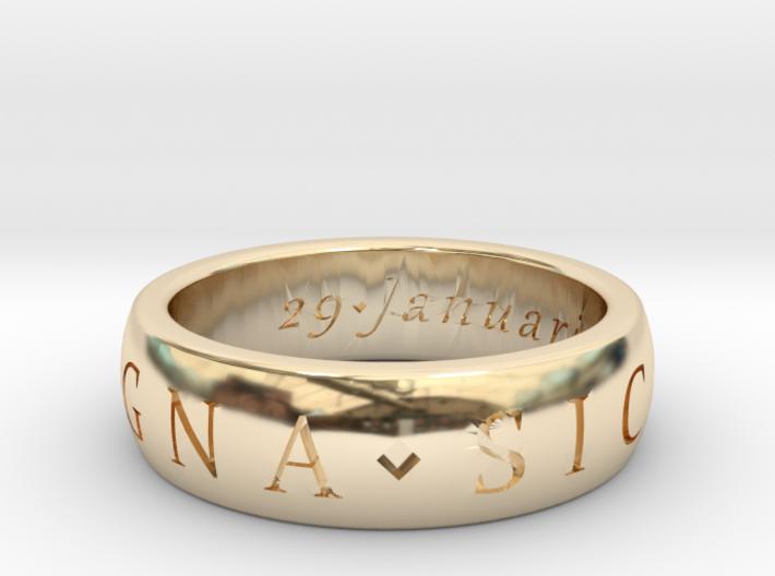 Sir Francis Drake, Sic Parvis Magna Ring Size 7.5 3d printed