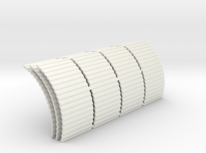 Quonset Corrugation 4ft Panels - 72:1 Scale 3d printed