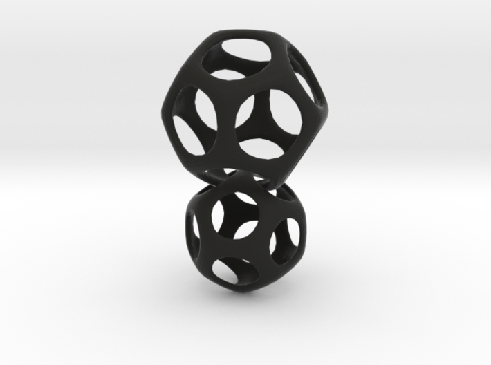 Dodecahedron Interlocked - 2pts 3d printed