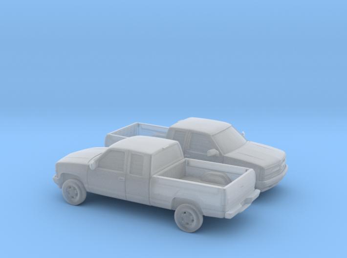 1/160 2X 1994 Chevrolet Silverado Extended Cab 3d printed