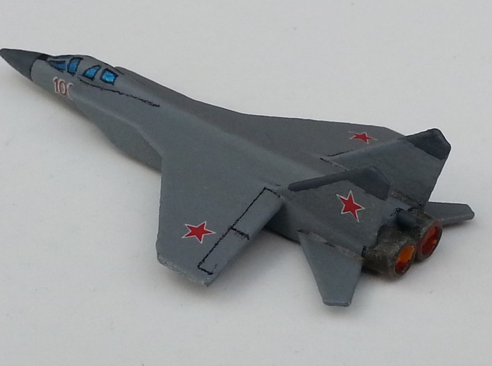 MiG-31 Foxhound 1/285 scale Russian interceptor 3d printed Painted with decals and ready to play Check Your 6!
