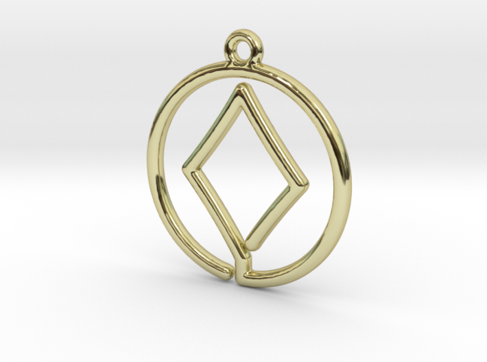 Diamond Card Game Pendant 3d printed