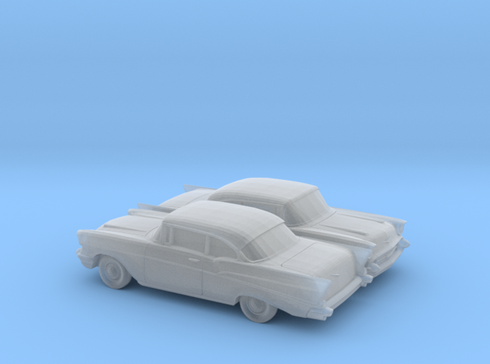 1/160 2X 1957 Chevrolet BelAir Coupe 3d printed