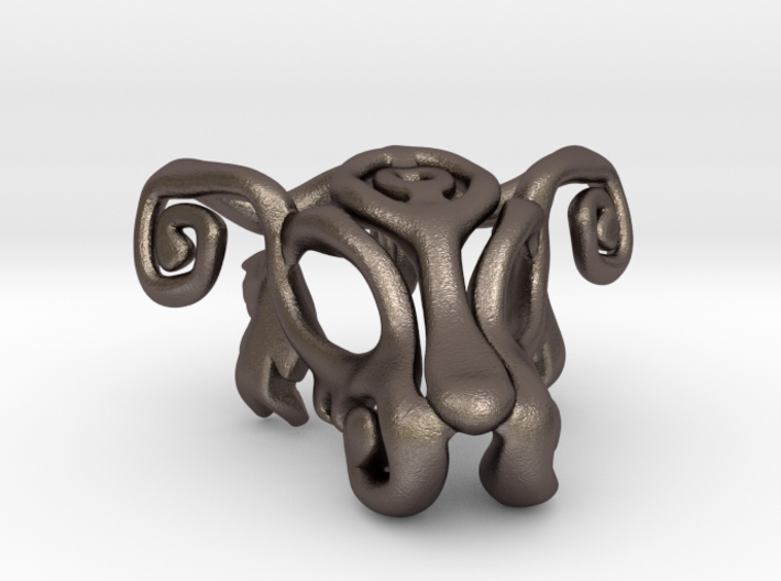 Dog Mask Keychain 2 3d printed
