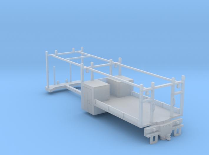 4 Door 2 Axle Construction Truck Bed (FUD) 1-87 HO 3d printed