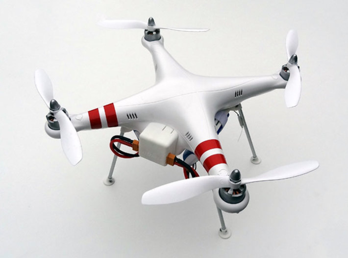 DJI Phantom Wide Battery Landing Gear 3d printed DJI Phantom Wide Battery Landing Gear overview