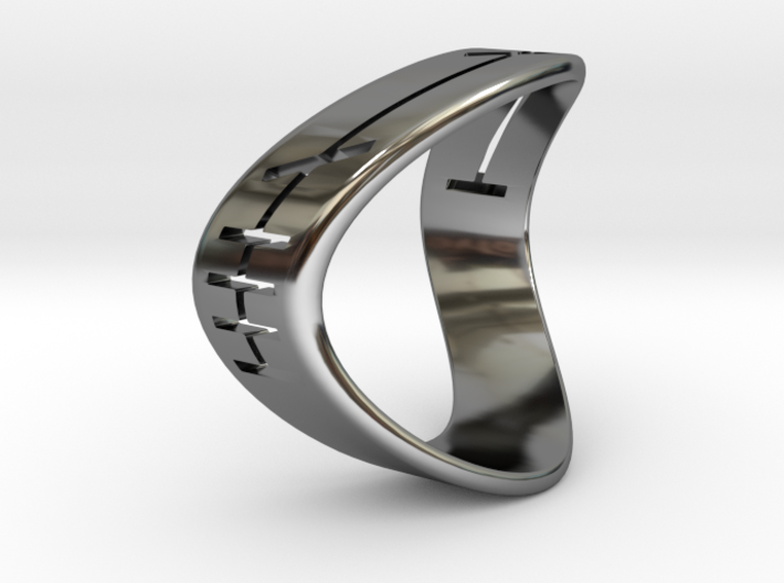 Emma Ogham Ring 3d printed