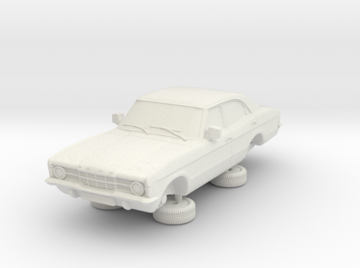 1-76 Ford Cortina Mk3 4 Door Standard Single Hl 3d printed