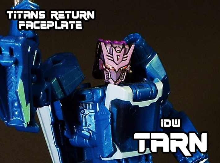 Tarn Faceplate (Titans Return-Compatible) 3d printed Hand painted frosted ultra detail