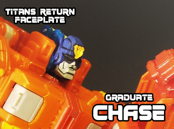 Graduate Chase Faceplate (Titans Return) 3d printed Hand painted frosted ultra detail
