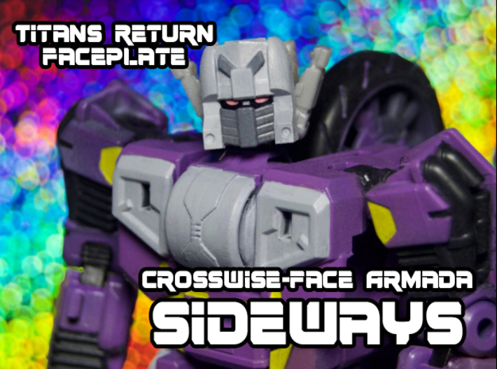 Sideways Crosswise Face (Titans Return) 3d printed Sideways custom using FUD print by Ni Merz (@Nistuff on Twitter)
