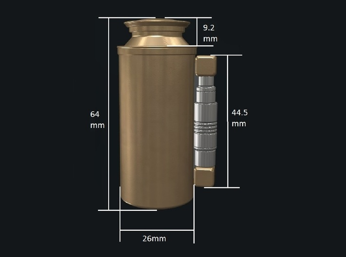 Rey's Backpack Canister 3d printed