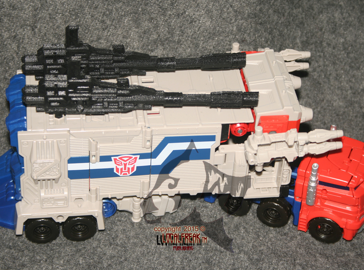 """Titans Return Power Master Prime """"True Gun"""" Left  3d printed Prototype Image- 1 piece only -See shop for others"""