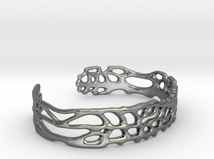 Skinny Sea Fan Cuff 3d printed