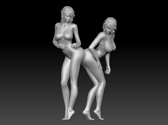 Nice Bottom Girls-001 Scale 1/12 3d printed