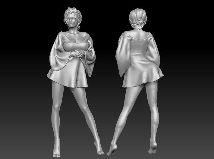 Skirt Girl-006 Scale 1/12 3d printed