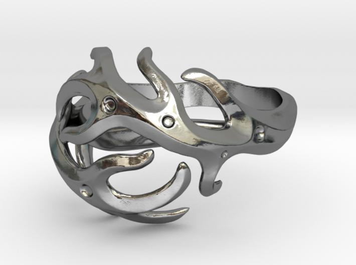 Antlers ring 3d printed