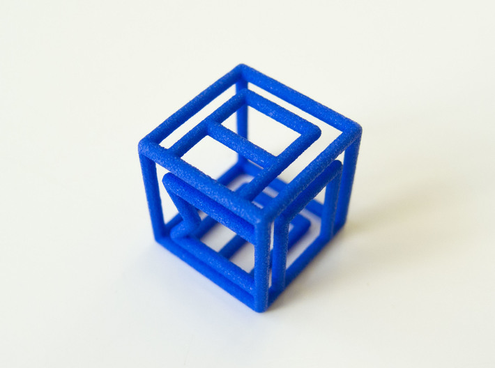 Personalized Initial Cube pendant 3d printed