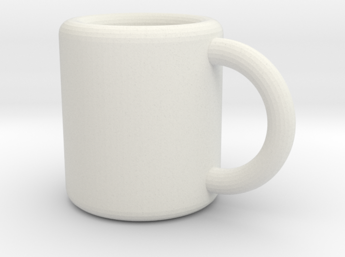 Coffee Mug Earring 3d printed