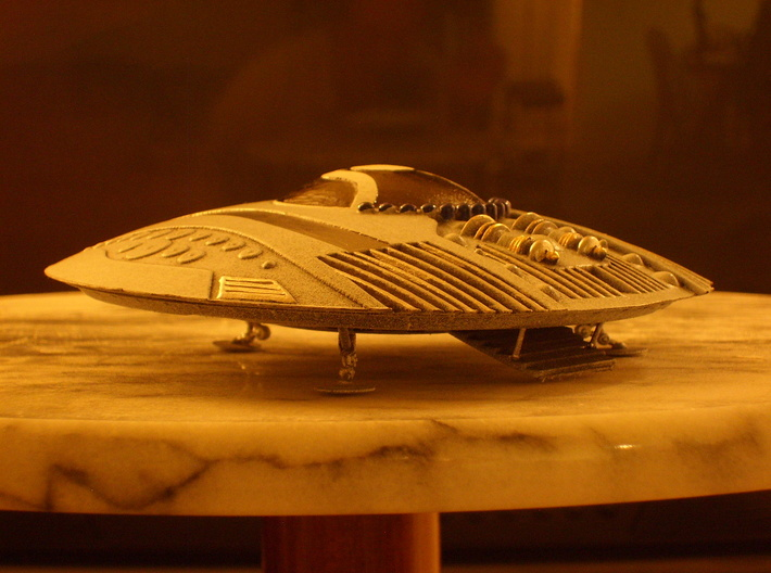 Evil Genius Alien Lizzard Monkey Ship Kit-Mod 3d printed Alien UFO with boarding Ramp