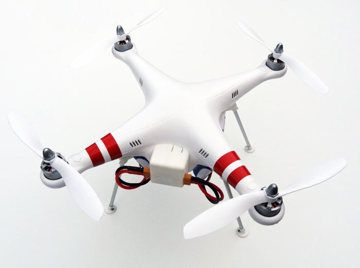 DJI Phantom Foldable Battery Landing Gear 3d printed DJI Phantom Foldable Battery Landing Gear overview
