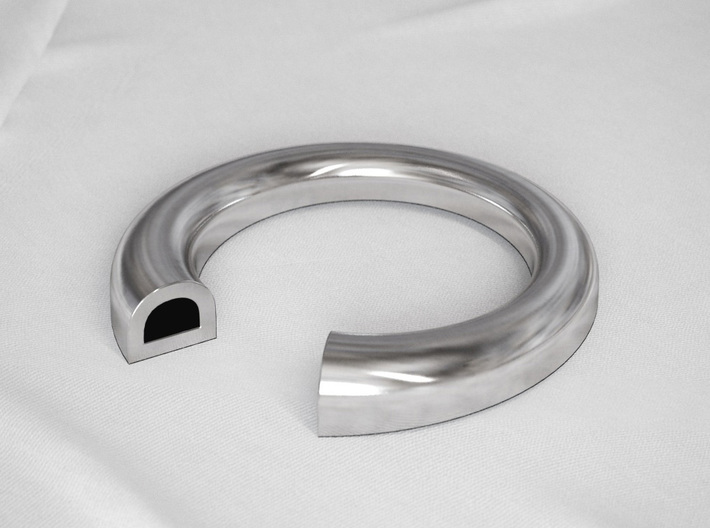 D Letter Ring 3d printed