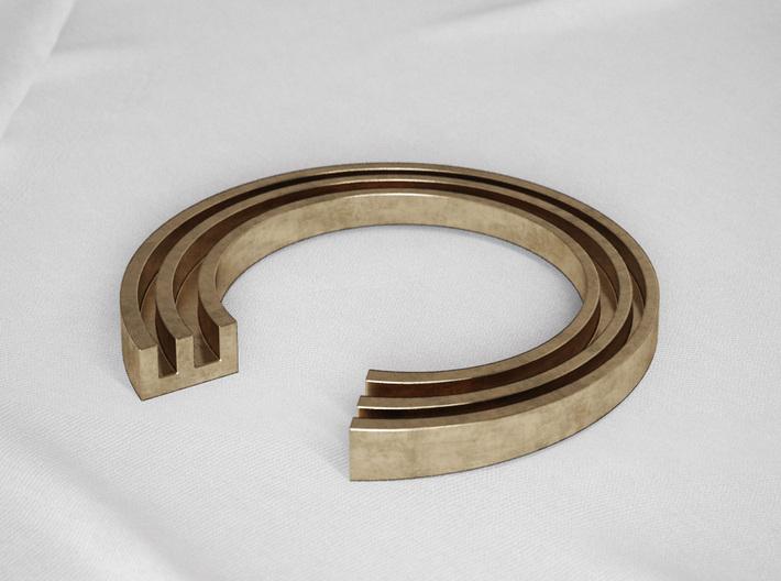 E Letter Ring 3d printed