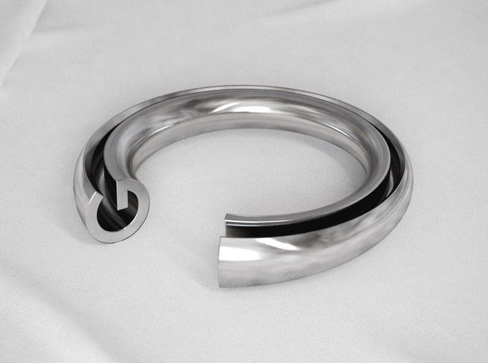 G Letter Ring 3d printed