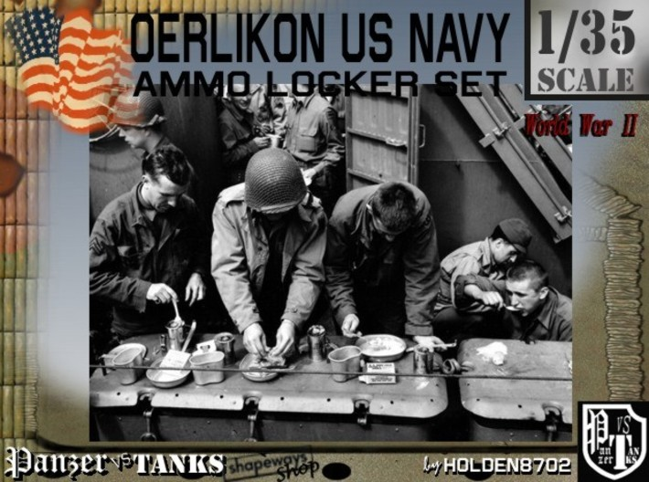 1/35 Oerlikon USN Ammo Locker Closed 3d printed