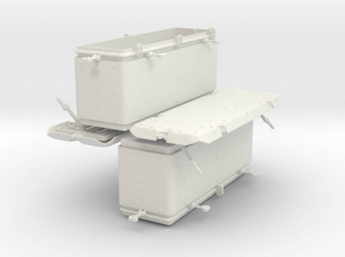 1/24 Oerlikon US Navy Ammo Locker Set 3d printed