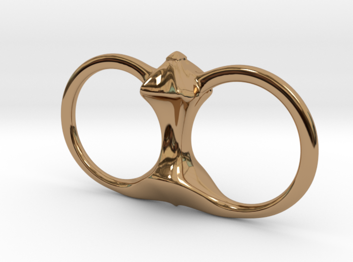 Spike Double Ring 3d printed