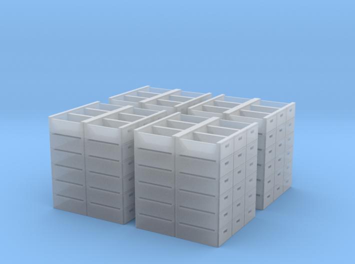 N Scale Empty Fruit Lug Stacks 3d printed