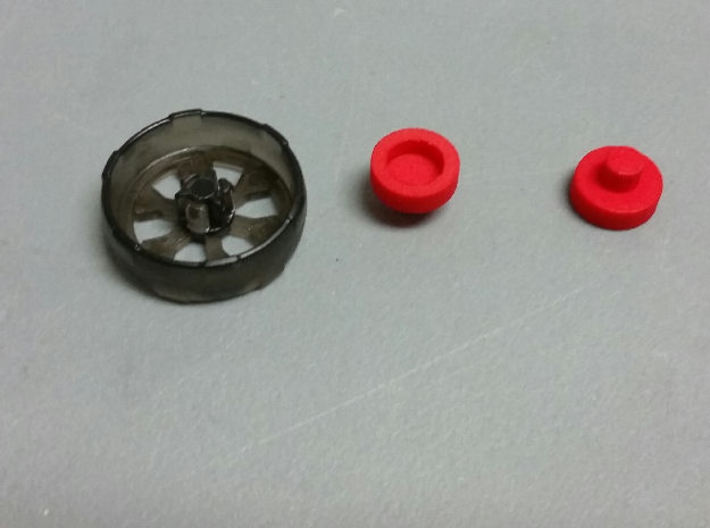 Chromedome Arm Wheels 3d printed size
