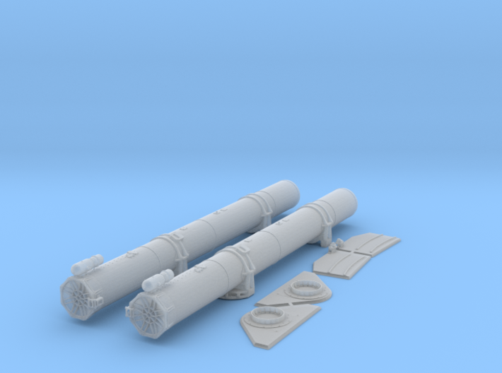 1/35 Torpedo Tubes (aft pair) for PT Boats 3d printed