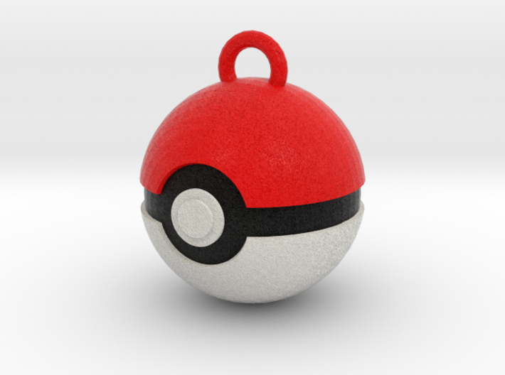 Pokeball Pendant 3d printed