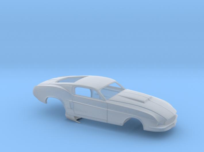 1/43 67 Pro Mod Mustang GT Stock Scoop 3d printed