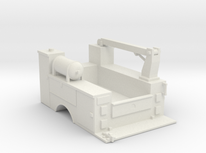 MOW Truck Bed With Fixed Crane 1-87 HO Scale 3d printed