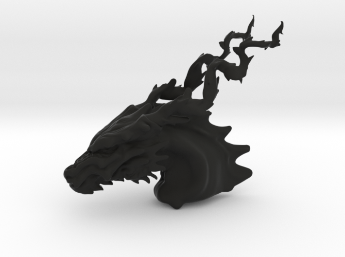 Dragon budda head 3d printed