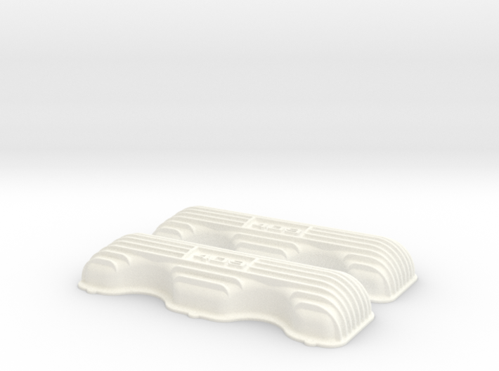 1/8 409 Finned Logo Valve Covers File 3d printed