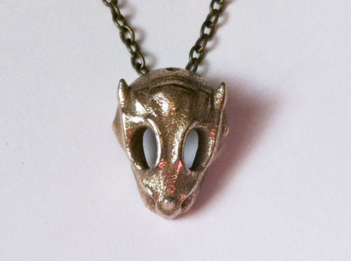 Baby Dragon Skull 3d printed stainless steel