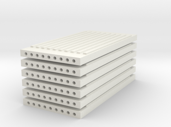 'N Scale' - (6) Precast Panel - Ribbed - 20'x10'x1 3d printed