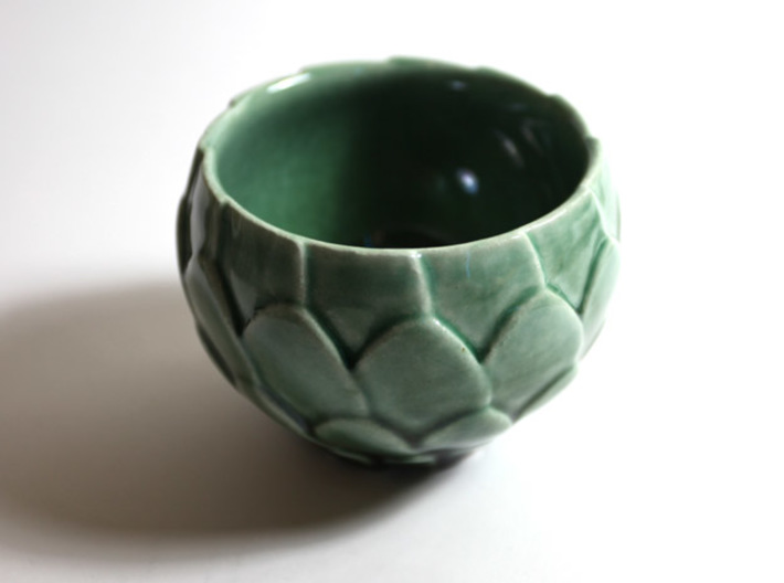 Artichoke Bowl 3d printed Artichoke Bowl in Gloss Oribe Green